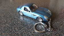 Diecast BMW Z8 Coupe Hardtop Blue Toy Car Keyring Keychain