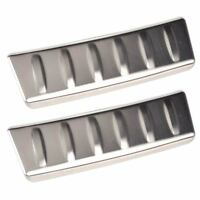 2x Stainless Steel Trunk Door Sill Protector Plate Trim Fit Jaguar F-Pace 2016+