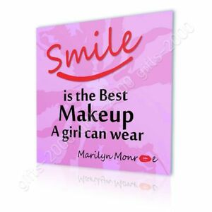 Motivation Quotes Smile Makeup by Alonline DSN | Canvas (Rolled) | Wall art HD