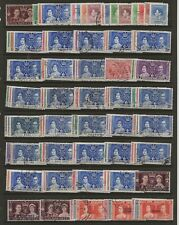 OMNIBUS - 1937 CORONATION  56 DIFFERENT SETS BETWEEN GB & ASCENSION  ETC   FINE