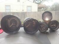 Westerbeke Engine set of 7 RPM,Coolant Temp,oil pressure,Fuel,Rudder angel,trans
