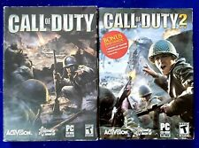 Call of Duty (PC, 2003) and Call of Duty 2 PC 2005 Complete All Discs + Manual