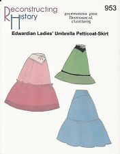 Motifs de coupe rh 953: EDWARDIAN umbrella jupon
