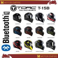 TORC T-15B Full Face Motorcycle Scooter Street Helmet Bluetooth DOT XS - 2XL