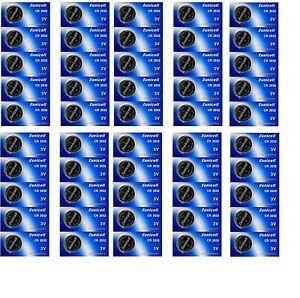 ENVOI SOUS SUIVI EUNICELL Lot 50 Piles Lithium CR2032 BR2032 DL2032 2032 3 VOLT