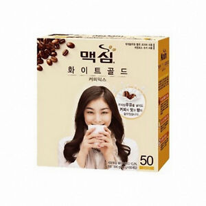Korea Maxim 3 in 1 Instant Mix Coffee White Gold Skimmed milk Coffee50 sticks