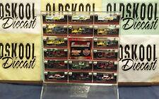 Dale Earnhardt Sr (16) 1:64 1978-1996 car Set W/ acrylic stand RCCA - VERY RARE