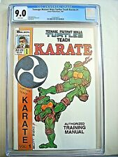 TEENAGE MUTANT NINJA TURTLES TEACH KARATE CGC 9.0 VF/NM White Pages Solson 1987