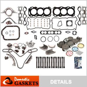 Fit 01-04 Nissan Pathfinder Infiniti QX4 3.5L Master Engine Rebuild Kit VQ35DE