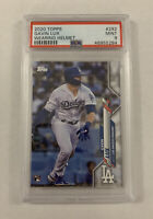 Gavin Lux 2020 Topps Series 1 Rookie PSA 9 Mint #292 Los Angeles Dodgers RC