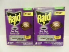 Lot Of 2 Raid Bed Bug Detector & Trap ~ 8 Count Each = 16 Total