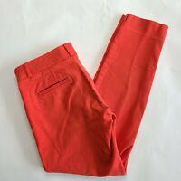 Banana Republic Sloan Fit Coral Orange Cropped Pants Size 4