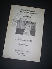Maureen Reagan Signature Trumbull County Young Republican Club FREE SHIP