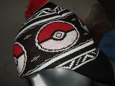 Pokemon Pokeball Anime Nintendo NES Game Laplander Pom Knit Beanie Hat Cap Ski