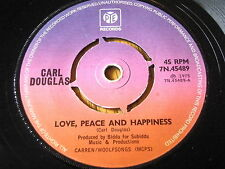 "CARL DOUGLAS - LOVE, PEACE AND HAPPINESS  7"" VINYL"