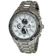 Casio EF539D-7A Edifice 53.5MM Men's Chronograph Stainless Steel Watch