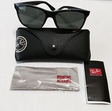 New Ray-Ban Men's Sunglasses High Street RB4181 601 Black 57MM Made In Italy