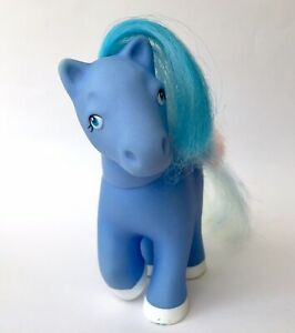 Vintage Rare 80s 💕Lovely Pets My Little Pony Remco Fakie Phony Blue Rainbow 90s