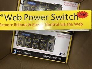NEW DIGITAL WiFi WEB POWER SWITCH PRO WLCD SCREEN 10 OUTLETS / LPC7-PRO