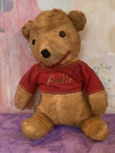 Vintage Old little Winnie The Pooh Stuffed Plush Teddy Bear Walt Disney Gund 10""