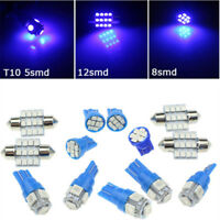 13x Blue LED Car Interior T10&31mm Map Dome License Plate Light Lamp Bulbs Kit