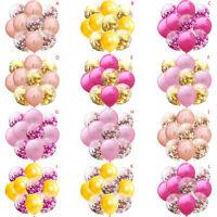 12'' Mixed Gold Foil Confetti Latex Balloons Helium Wedding Birthday Party DecIJ