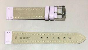 Pulsera Correa de Reloj Piel Legítima Cuero 18 mm Lila   Watchband 240