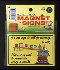 NEW FUNNY IF A MAN SAYS MAGNET 95MM X 64MM CAR FRIDGE FATHERS DAY CAMPER CARAVAN