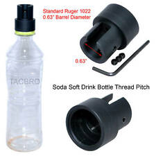"""Ruger 1022 Soda Pop Bottle 0.63"""" Dia. Cleaning Patch Trap Muzzle Adapter 10/22"""