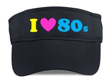 I Love The 80s Visor - 80's Fancy Dress Costume Outfit Neon Party Hat