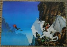 Michael Whelan The White Dragon Art Poster 17 x 24 Anne McCaffrey, 1980 ROLLED