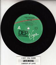 "UB40  I Got You Babe 7"" 45 rpm vinyl record + juke box title strip"