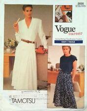 VINTAGE Vogue carriera #2035 Tamotsu Camicia, Manica ad Aletta T Shirt Top e Gonna completa