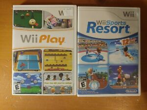 Wii Sports Resort and Wii Play Nintendo Wii Complete Tested and Working
