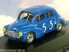 1/43 RENAULT 4CV BERLINE TYPE R1063 #53 IN BLUE BOL D'OR RACE 1952