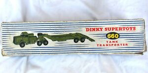 Vintage Dinky Supertoys 660 Tank Transporter with Box