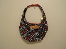 Betsey Johnson Betseyville Hobo Style Handbag Purse Nylon Medium Zebra Cherry