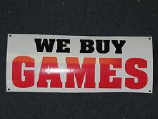 WE BUY GAMES Banner Sign *NEW*