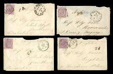 ITALIA 1867-73... 4 copre 60 a Grantham Lincoln Torquay Brighton