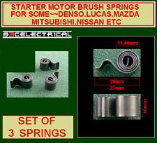 STARTER MOTOR BRUSH SPRING X 3 FOR SOME LUCAS DENSO MAZDA MITSUBISHI NISSAN ETC