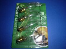 12 Pcs Night Light Bulb 110V - 125V 5W 5 Watt Brass Base