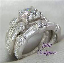 2.65 ct Brilliant Cut  Engagement/Wedding Ring Set, Sz5