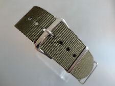 Uhrenarmband  Nylon grün-olive 22 mm NATO BAND Dornschließe Textil