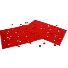4x Filz Platzmatte 45x30 Tischset rot Platzset Weihnachten Tischmatte Filzmatte