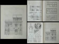 SAINT QUENTIN, 110-112 RUE DE GUISE - PLANCHES ARCHITECTURE 1910 -FERNAND ISRAEL