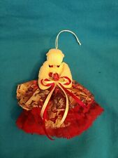 """Victorian Angel Handmade Christmas Ornaments with Lace Yarn Ribbon Red Rose 6"""""""