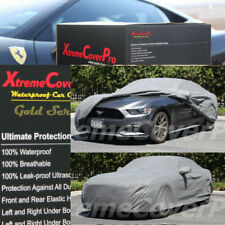 CUSTOM FIT WATERPROOF CAR COVER GREY FOR 2015 2016 2017 2018 2019 FORD MUSTANG