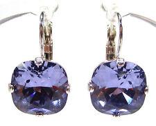 SoHo® Ohrhänger Kristalle Stumpfeck 12mm Kristall tanzanite SoHo lila violett