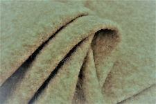 D269 LIGHT NATURAL BEIGE KNIT BOILED PURE WOOL & CASHMERE MELANGE made in ltaly