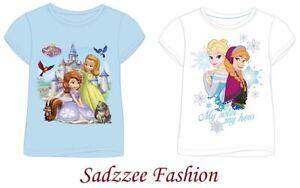 Brand New  Boys Girls Kids Official Disney Character T-Shirt Short Sleeve